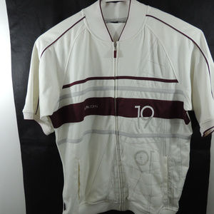 NWT Sean John Full ZipShirt Mens White Striped